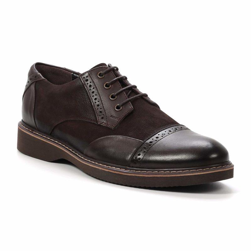 Muške cipele - Casual - 2128 - Tamno braon sa tamno braon detaljima
