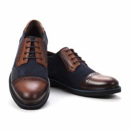 Muške cipele - Casual - 2128 - Teget sa braon detaljima