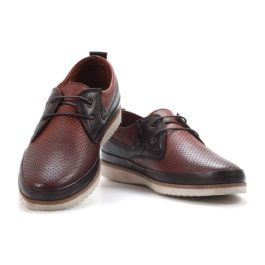 Muške cipele - Casual - 227 - Braon sa tamno braon detaljima