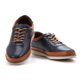 Muške cipele - Casual - 229 - Teget sa braon detaljima