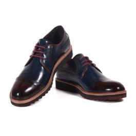 Muške cipele - Casual - 400 - Teget sa bordo detaljima