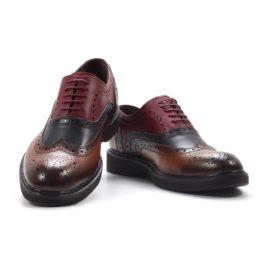 Muške cipele - Casual - Z-01 - Braon - bordo sa teget detaljima