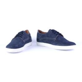 Muške cipele - Veliki brojevi - 3660-G - Teget sa belim đonom