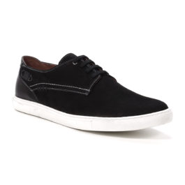 Muške cipele - Veliki brojevi - 3660-G - Crna sa belim đonom