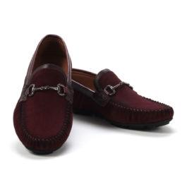 Muške cipele - Mokasine - MK02-1- Bordo
