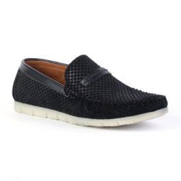 Muške cipele - Mokasine - MK03 - Crna sa belim đonom
