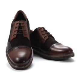 Muške cipele - Casual - 2128 - Tamno braon sa braon detaljima
