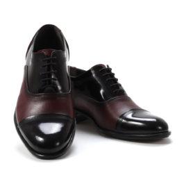 Muške cipele - Elegantne - 108-2 - Bordo sa tamno bordo detaljima