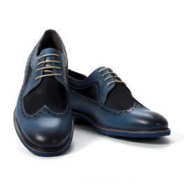 Muške cipele - Casual - 2213-1 - Plava sa tamno teget detaljima