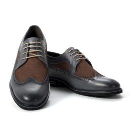 Muške cipele - Casual - 2213-1 - Siva sa braon detaljima