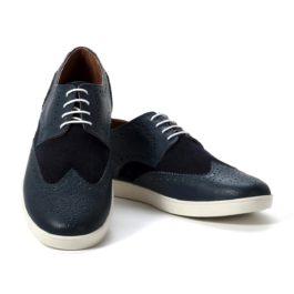 Muške cipele - Casual - 369 - Teget sa tamno teget detaljima