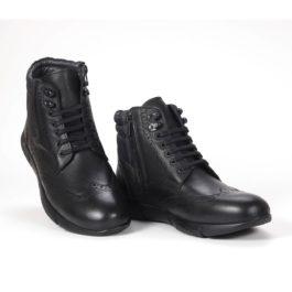 Muške cipele - Duboke - 23411 - Crna sa crnim detaljima