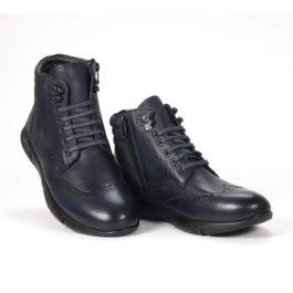 Muške cipele - Duboke - 23411 - Teget sa crnim detaljima
