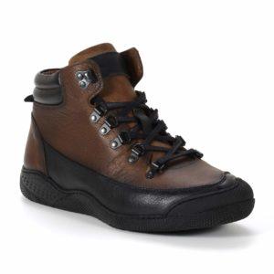 Muške cipele - Duboke - 25003 - Braon sa crnim detaljima