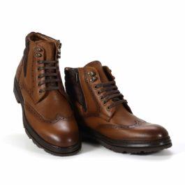 Muške cipele - Duboke - 2905 - Braon sa tamno braon detaljima