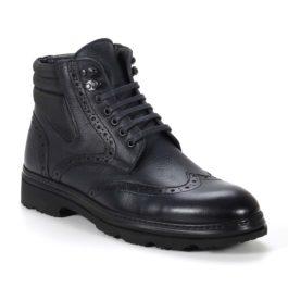 Muške cipele - Duboke - 2905 - Tamno teget sa crnim detaljima