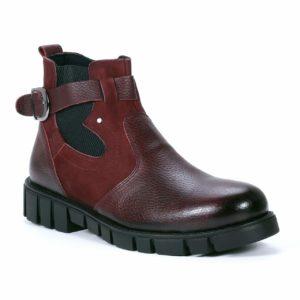 Muške cipele - Duboke - 832 - Bordo sa crvenim detaljima