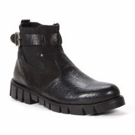 Muške cipele - Duboke - 832 - Crna sa crnim detaljima