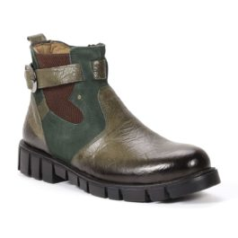 Muške cipele - Duboke - 832 - Maslinasta sa zelenim detaljima