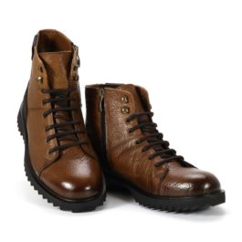 Muške cipele - Duboke - 905 - Braon sa crnim detaljima