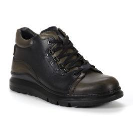 Muške cipele - Duboke - K1017-7 - Maslinasta sa crnim detaljima