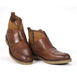 Muške cipele - Duboke - Vilson 5 - Braon sa svetlo braon detaljima
