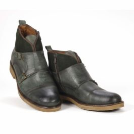 Muške cipele - Duboke - Vilson 5 - Zelena sa tamno zelenim detaljima