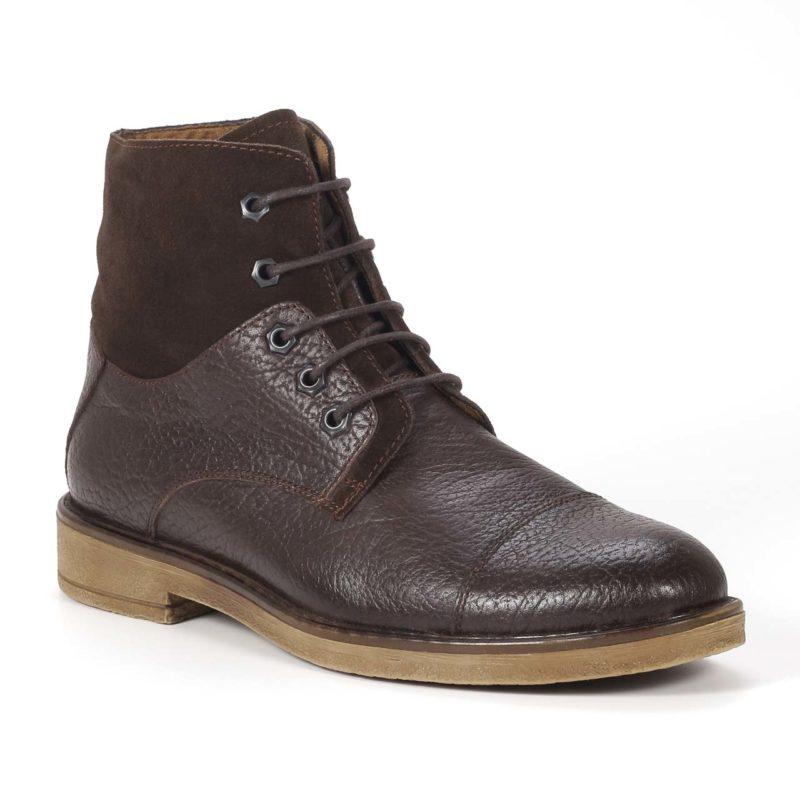 Muške cipele - Duboke - Vilson - Tamno braon sa tamno braon detaljima
