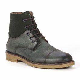 Muške cipele - Duboke - Vilson - Zelena sa tamno zelenim detaljima