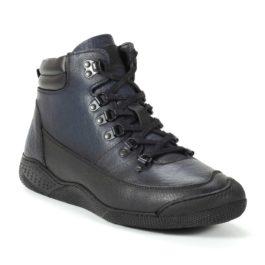 Muške cipele - Duboke - 25003 - Teget sa crnim detaljima