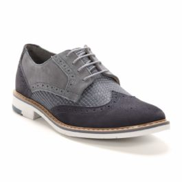 Muške cipele - Casual - 570-1 - Siva sa teget detaljima