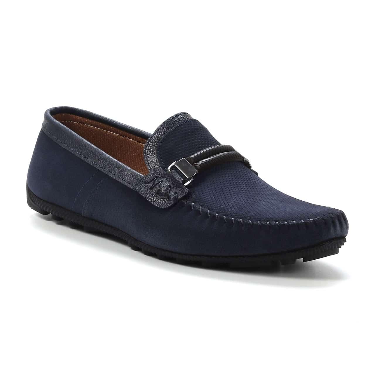 Kožna muška obuća - Muške Cipele - Mokasine i Brodarice Brodarice - MK02-2 - Teget