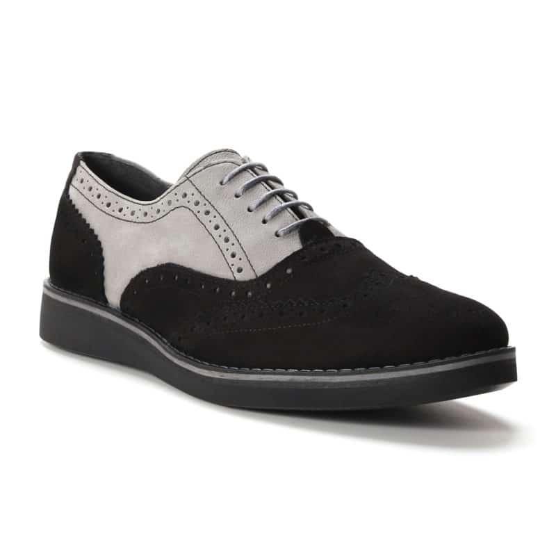 Muške cipele - Casual - 734-01Z - Crna sa sivim detaljima