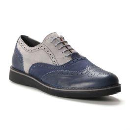 Muške cipele - Casual - 734-01Z - Teget sa sivim detaljima