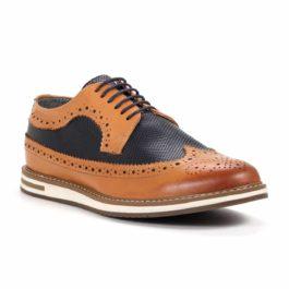 Muške cipele - Casual - 901 - Braon sa teget detaljima