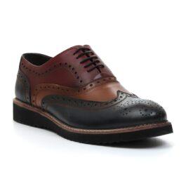 Muške cipele - Casual - Z-01 - Teget - bordo sa braon detaljima
