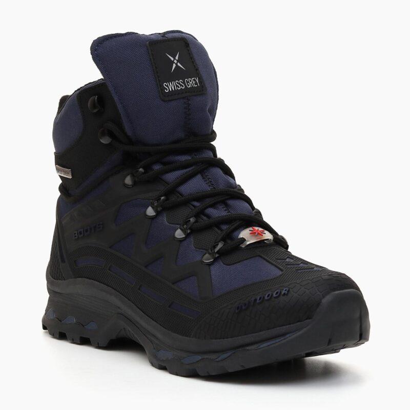 Muške cipele - Duboke - 700-1111M - Teget - crna