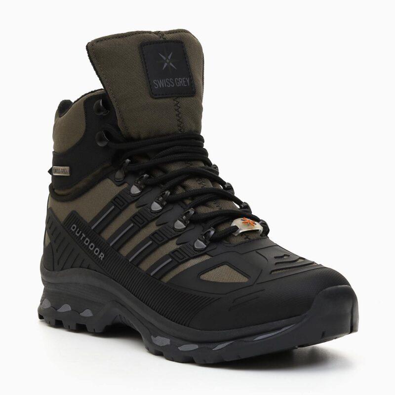 Muške cipele - Duboke - 700-1112M - Maslinasto - crna