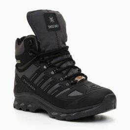 Muške cipele - Duboke - 700-1112M - Sivo - crna