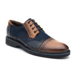 Muške cipele - Casual - 2128E - Teget sa braon detaljima